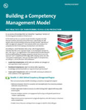 Building a Competency Management Model