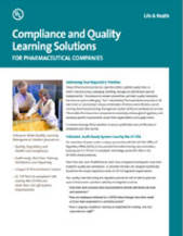 Compliance & Quality Learning Solutions For the Pharmaceutical Industry