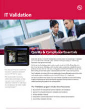 Quality & Compliance Essentials: IT Validation