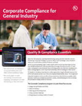Quality & Compliance Essentials: Corporate Compliance for General Industry