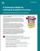 A Governance Model for Learning and Compliance Processes