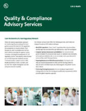 Advisory Services: Quality and Compliance Training Programs