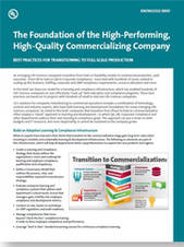 The Foundation of the High-Performing, High-Quality Commercializing Company