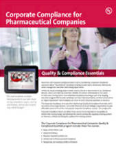 Quality & Compliance Essentials: Corporate Compliance for Pharmaceutical Companies